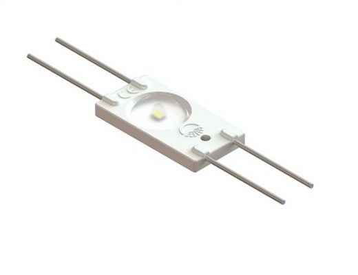 LED modulis, 12V, 1.44W, 1xSMD2835 120lm, 6250K, su lęšiu 160°, IP67