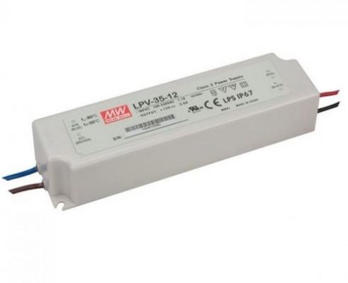 LED maitinimo šaltinis 12V 3A IP67 Mean Well