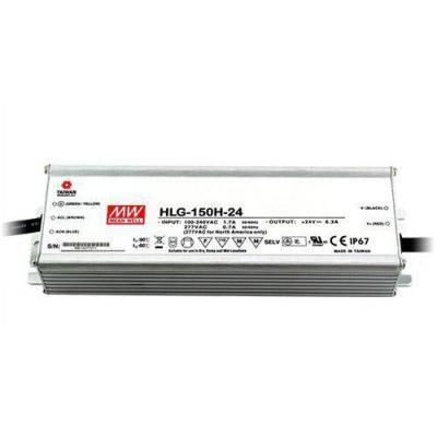 LED maitinimo šaltinis 24V 6.3A PFC IP67 Mean Well