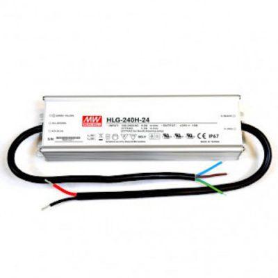 LED maitinimo šaltinis 24V 10A PFC IP67 Mean Well