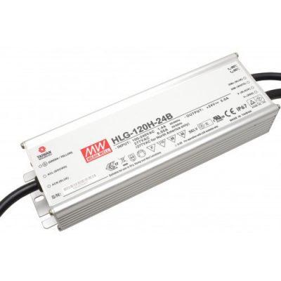 LED maitinimo šaltinis 24V 5A valdomas, PFC IP67 Mean Well