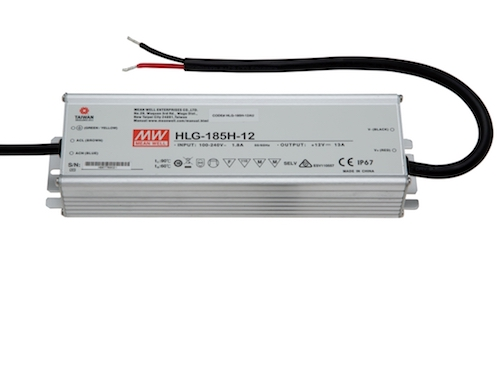LED maitinimo šaltinis 12V 13A PFC IP67 Mean Well